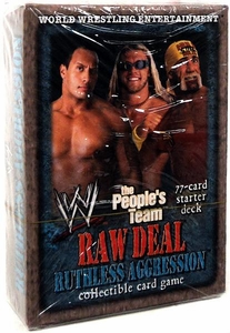 WWE Raw Deal Ruthless Aggression Starter Deck The People's Team