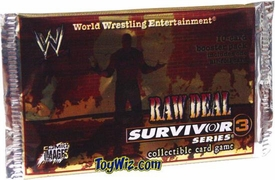 WWE Raw Deal Card Game Survivor Series 3 Booster Pack