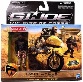 GI Joe Movie The Rise of Cobra Exclusive Ram Cycle With Sandstorm