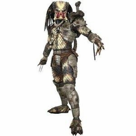 NECA Predator Movie Quarter Scale Action Figure Classic Original Predator OPEN MOUTH [Damaged]