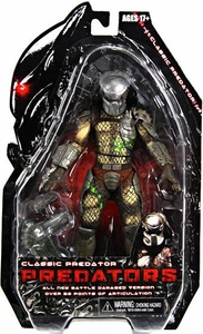 NECA Predators 2010 Movie Series 2 Action Figure Battle Damaged Classic Predator [Cracked Mask]