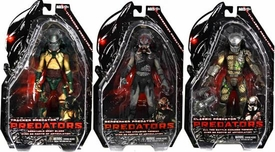 NECA Predators 2010 Movie Series 2 Set of 3 Action Figures [Tracker, BD Classic & Berserker Unmasked]