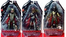 NECA Predators 2010 Movie Series 1 Set of 3 Action Figures [Classic, Falconer & Berserker]