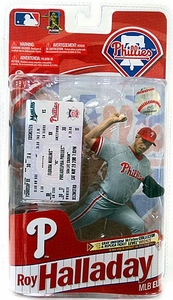 McFarlane Toys MLB Sports Picks 2011 Elite Series Action Figure Roy Halladay (Philadelphia Phillies) Gray Uniform & Replica Ticket Bronze Collector Level Chase Only 2,000 Made!