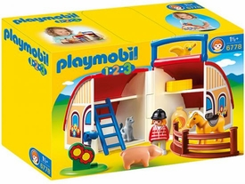 Playmobil 1.2.3 Set #6778 Take Along Barn