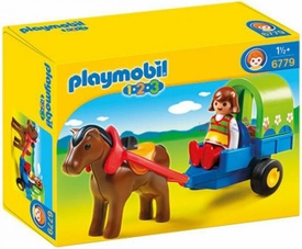 Playmobil 1.2.3 Set #6779 Pony Wagon