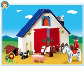 Playmobil 1.2.3 Set #6740 Animal Farm