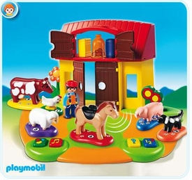 Playmobil 1.2.3 Set #6766 Interactive Play and Learn 1.2.3 Farm