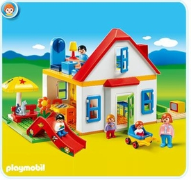 Playmobil 1.2.3 Set #6768 Family House with Slide