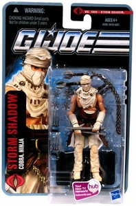 GI Joe Pursuit of Cobra 3 3/4 Inch Action Figure Storm Shadow {Desert Battle} [Cobra Ninja]