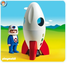 Playmobil 1.2.3 Set #6776 Moon Rocket