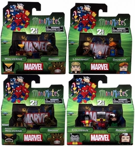 Marvel MiniMates Series 47 Set of 4 Mini Figure 2-Packs