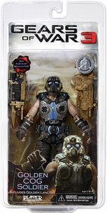 NECA Gears of War 3 Best Of Exclusive Action Figure Golden COG Soldier
