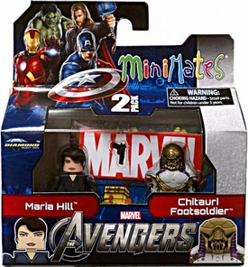 Marvel MiniMates Series 45 Avengers Movie Mini Figure 2-Pack Maria Hill & Chitauri Footsoldier [Variant]