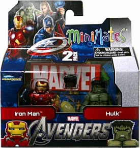 Marvel MiniMates Series 45 Avengers Movie Mini Figure 2-Pack Iron Man & Hulk