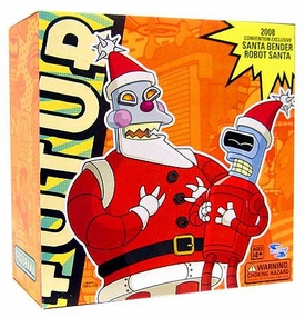 Toynami Futurama 2008 SDCC San Diego Comic-Con Exclusive Action Figure 2-Pack Santa Bender & Robot Santa