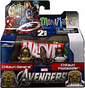 Marvel MiniMates Series 45 Avengers Movie Mini Figure 2-Pack Chitauri General & Footsoldier