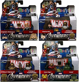 Marvel MiniMates Series 45 Avengers Movie Set of 4 Mini Figure 2-Packs