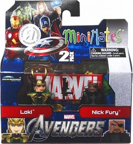 Marvel MiniMates Avengers Movie Exclusive Mini Figure 2-Pack Loki & Nick Fury