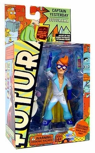 Futurama Toynami Series 4 Action Figure Fry as Captain Yesterday