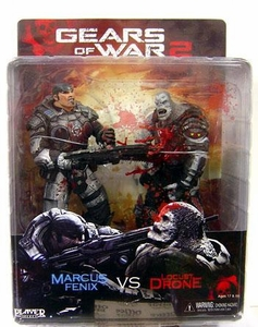 NECA Gears of War Action Figure 2-Pack Marcus Fenix [Chainsaw] & Locust Drone