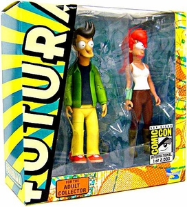 Toynami 2009 SDCC San Diego Comic-Con Exclusive Futurama Action Figure 2-Pack Alternate Universe Fry & Leela Only 2,000 Made!