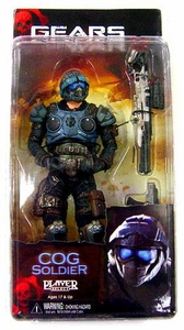 NECA Gears of War Series 3 Action Figure COG Soldier [Sniper Rifle & Lancer]