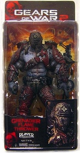 NECA Gears of War Series 4 Action Figure Locust Grenadier Flame Thrower [Helmeted]