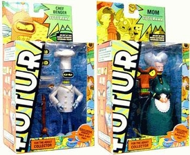Futurama Toynami Series 8 Set of Both Action Figures [Chef Bender & Mom]
