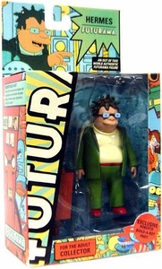 Futurama Toynami Series 7 Action Figure Hermes [Exclusive Roberto Build-A-Bot Part]