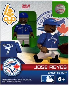 OYO Baseball MLB Generation 2 Building Brick Minifigure Jose Reyes [Toronto Blue Jays]
