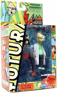 Futurama Toynami Series 7 Action Figure Professor Farnsworth [Exclusive Roberto Build-A-Bot Part]