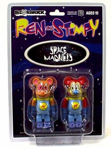 Medicom Bearbrick Ren & Stimpy 2-Pack Astronaut Version