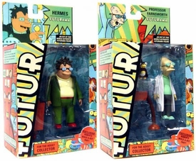 Futurama Toynami Series 7 Set of Both Action Figures [Hermes & Professor Farnsworth]