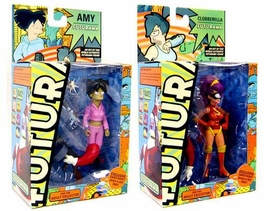 Futurama Toynami Series 6 Set of Both Action Figures [Leela as Cluberella & Amy Wong]