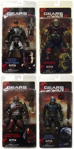 NECA Gears of War Series 5 Set of 4 Action Figures [Victor Hoffman, Boomer, Grenadier Beast Rider & COG Soldier]