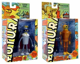 Futurama Toynami Series 5 Set of Both Action Figures [Super King Bender & Calculon]
