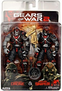 NECA Gears of War Exclusive Action Figure 2-Pack Locust Drone & Locust Sniper
