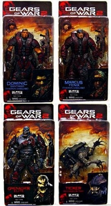 NECA Gears of War Series 4 Set of 4 Action Figures [Marcus, Dom, Ticker & ELITE Locust Grenadier]