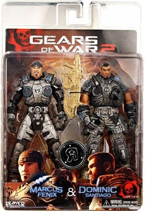 NECA Gears of War Exclusive Action Figure 2-Pack Marcus Fenix & Dominic Santiago