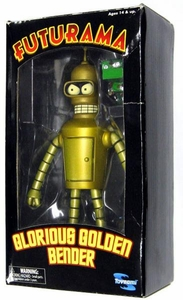 Futurama Toynami Exclusive Action Figure Glorious Golden Bender Mega Rare!