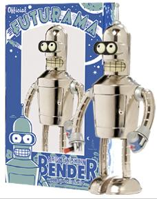 Futurama Rocket USA Wind Up Tin Bright 'N' Shiny Bender [Nickel Plate Edition]