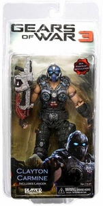 NECA Gears of War 3 Series 1 Action Figure Clayton Carmine [Lancer]