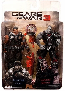 NECA Gears of War 3 Exclusive Action Figure 2-Pack Marcus Fenix & Locust Grunt