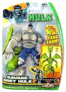 Hasbro Marvel Legends Hulk Series [Build a Fin Fang Foom] Action Figure Savage Grey Hulk
