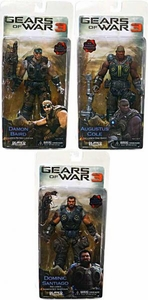 NECA Gears of War 3 Series 2 Set of 3 Action Figures [Dominic Santiago, Augustus Cole & Damon Baird]