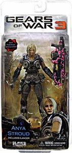 NECA Gears of War 3 Series 1 VARIANT Action Figure Anya Stroud [PINK Lancer]