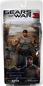 NECA Gears of War 3 Series 3 Action Figure Journey's End Marcus Fenix [Gold Retro Lancer]