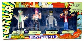 Futurama Series 1 Boxed Set Die Cast Figure 4-Pack Heavyweights [Professor Farnsworth, Bender, Leela & Frye]