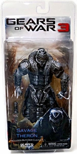 NECA Gears of War 3 Series 3 Action Figure Savage Theron {Version 1} [Black & Silver Faceplate]